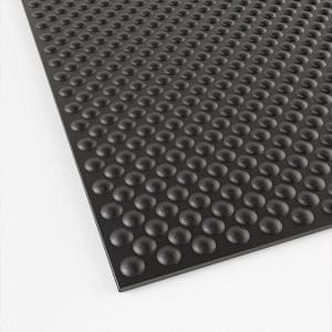 detailed view of a hammertop stable mat